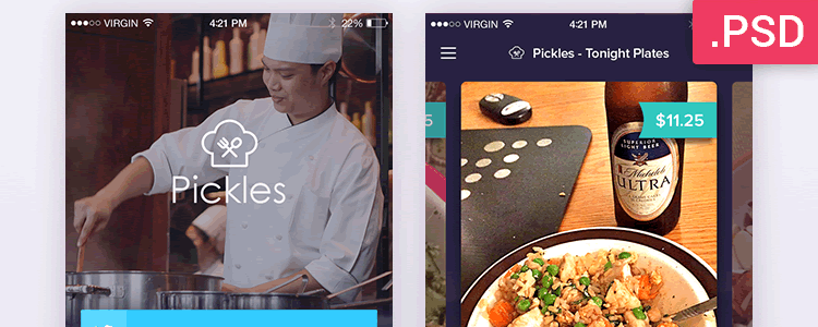 Restaurant Mobile App Screens