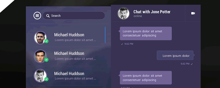 Instant Mobile Chat Messenger App UI