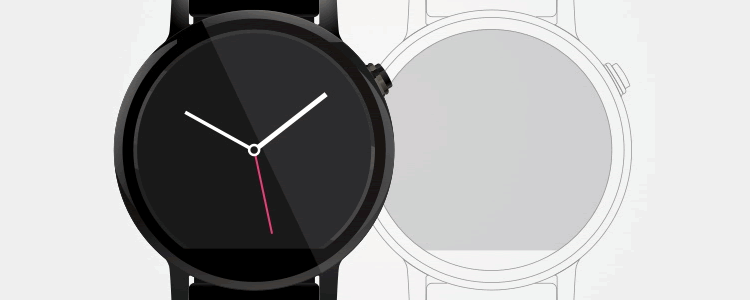 Moto 360 Template Wireframe