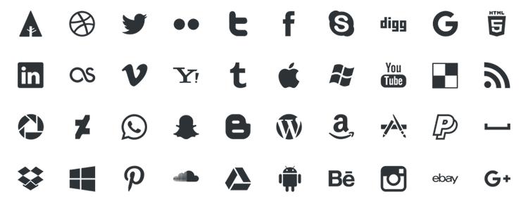 Picons Social Media Vector Icons