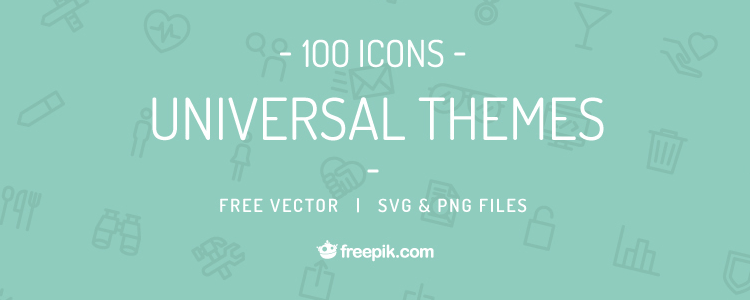 Universal Themes Vector Icon Set