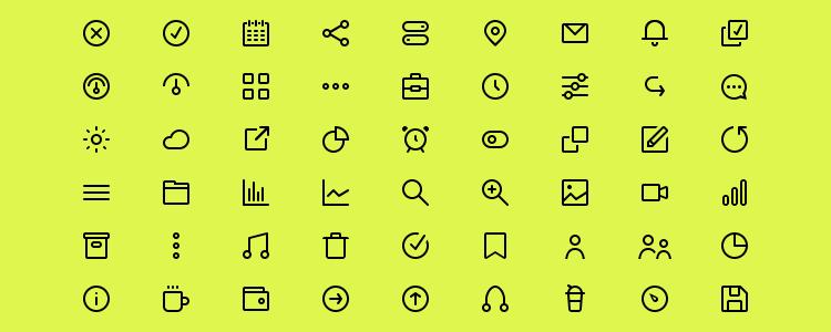 72 Mini Line Icons