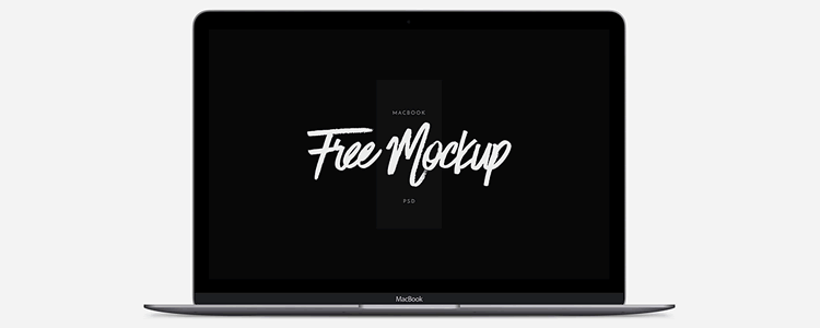 free mockup template psd Scalable MacBook
