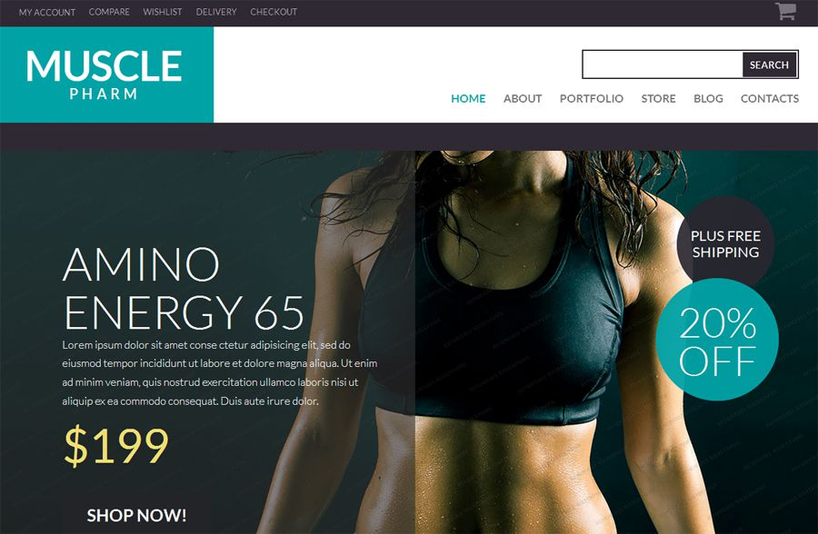 Muscle Pharm Free WooCommerce Theme
