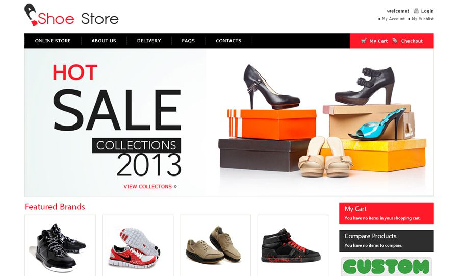 Shoe Store Free OpenCart Template