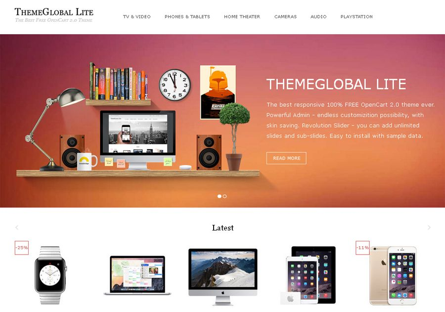 opencart bookstore template - 20 free themes templates for creating ecommerce stores