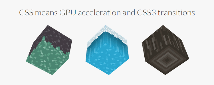 voxel lightweight 3D CSS voxel library