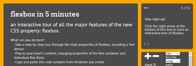 flexbox in 5 Minutes Interactive Tour