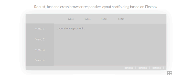cssPlus Layout Scaffolding Based on Flexbox