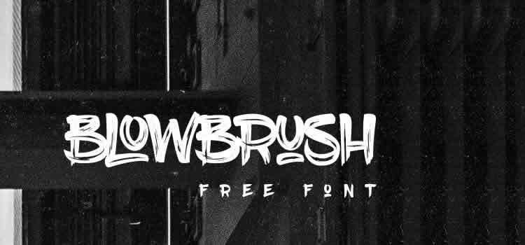 BlowBrush Font