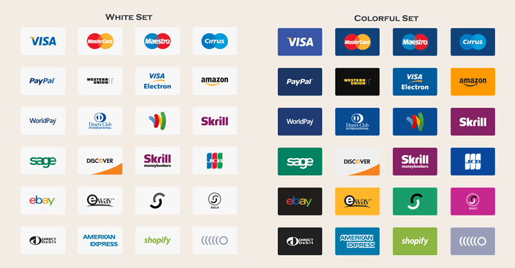 12 Free Payment Method & Credit Card Icon Sets