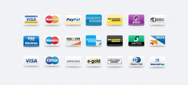 Payment Method Icons Set free Pixeden png