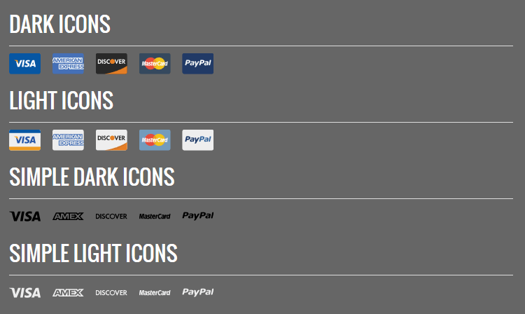 SVG Credit Card Icons Designed free