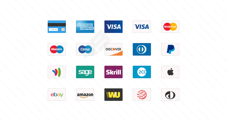 Credit Card Web Icons psd png