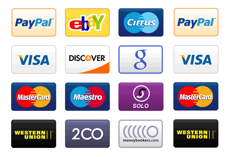 credit card payment icons free png set - Free Visa Card