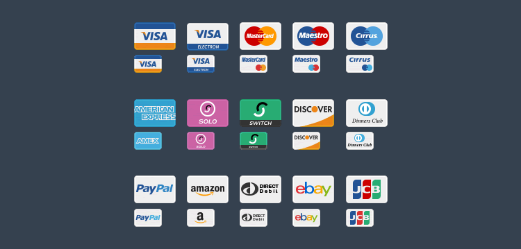 15 Free Payment Method & Credit Card Icon Sets