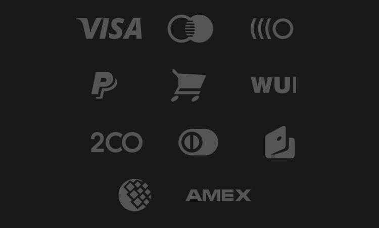 Payment Gateway Glyphs Designed psd