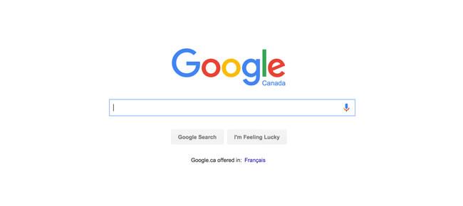Google Canada homepage
