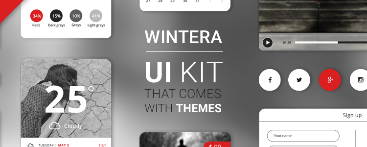 Wintera Free UI Starter Kit Photoshop PSD