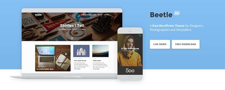 Beetle Go Free WordPress Theme for Creatives