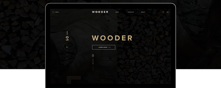 Wooder Web Template PSD