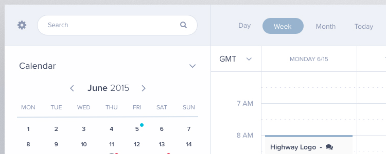 Calendar UI Template Sketch