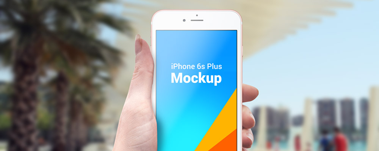 free mockup template psd iPhone 6s Plus Outdoor