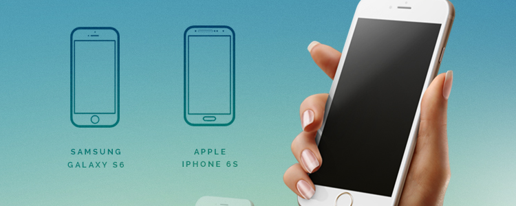 free mockup template psd iPhone 6 Android Mockup