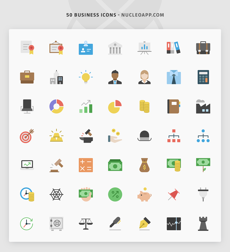 nucleo 50 flat free icon set business corporate preview ai svg