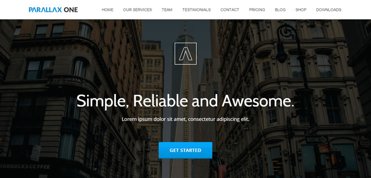 Parallax One free wordpress theme business small corporate