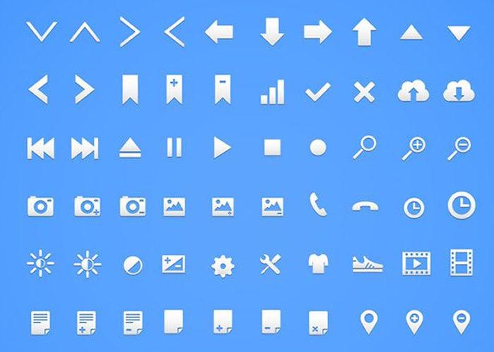 The Retina Glyph Free Icon Set (100 Icons, AI & PNG)