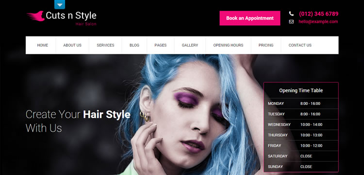 SKT CutsNStyle free wordpress theme business small corporate