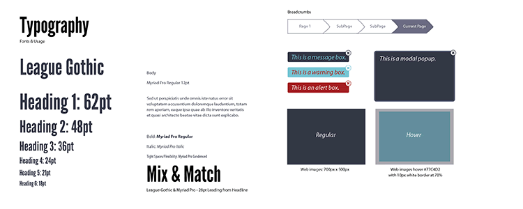 Basic Five Page Style Guide Template ai illustrator