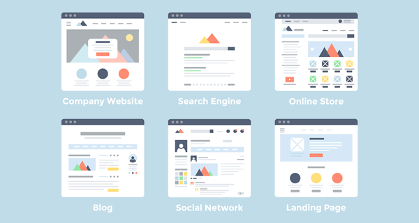 types of web design layouts