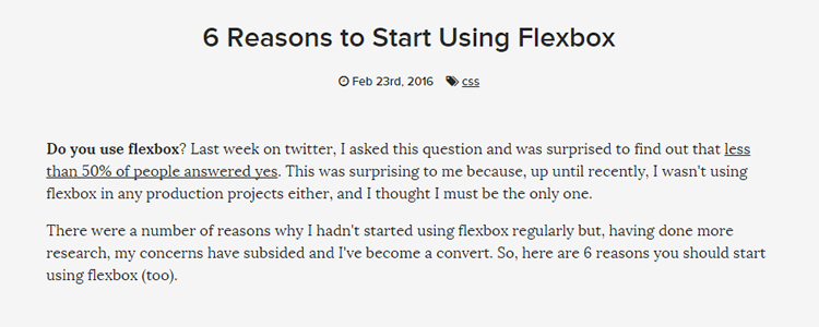 6 Reasons to Start Using Flexbox