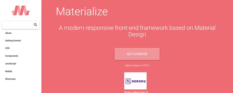 Materialize CSS Framework Material Design