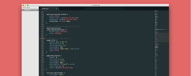 Toothpaste custom theme Sublime Text with flavorful colors