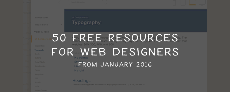 Collections: 50 Free Resources for Web Designers from January 2016