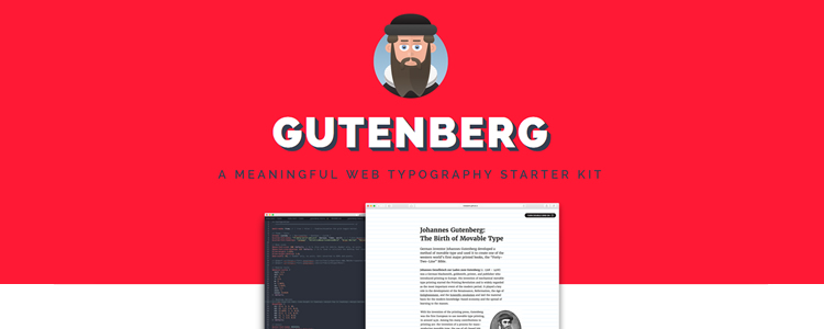 Gutenberg work–in–progress web typography starter kit