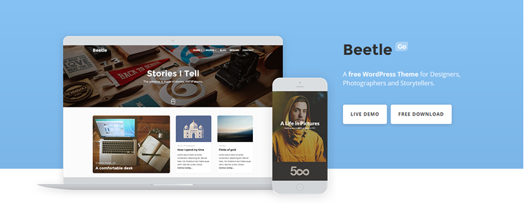 Free WordPress Theme The Beetle WordPress Theme for Designers