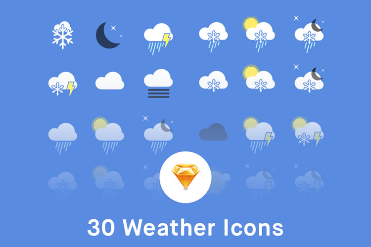 Freebie Weather Icons Sketch