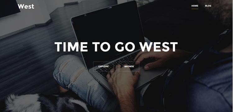 Batı ücretsiz wordpress tema iş küçük kurumsal