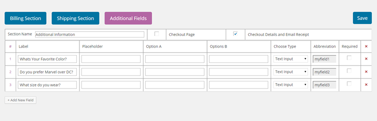 Manage Add Remove Checkout Fields in WooCommerce plugin