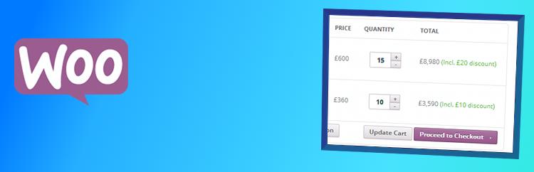 Allow Shopping Cart Bulk Discounts in WooCommerce plugin