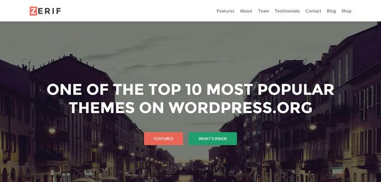 Zerif Lite ücretsiz wordpress tema iş küçük kurumsal