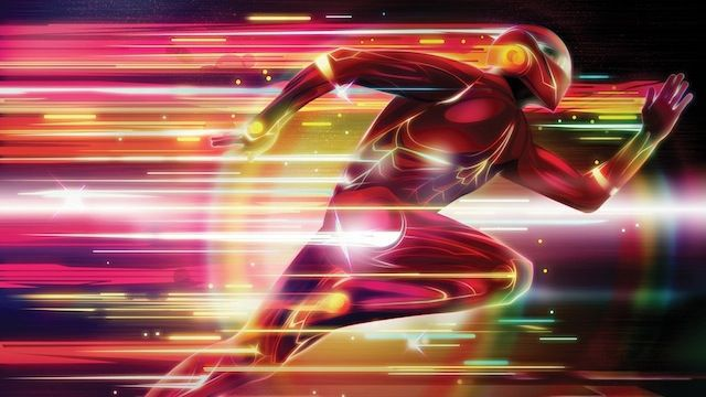 Glowing Superhero Photoshop tutorial graphic designers