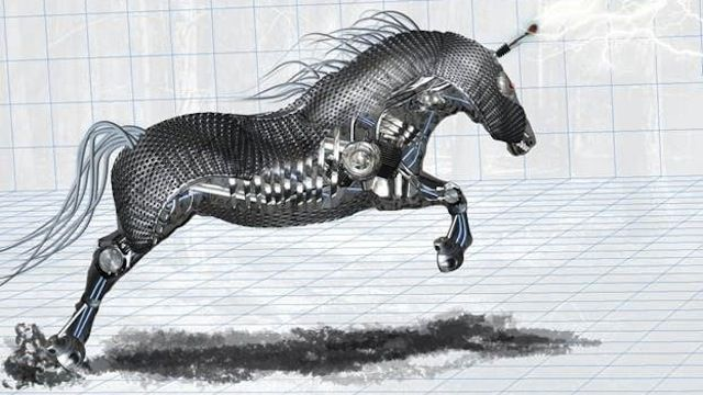 Amazing Mechanical Horse tutorial graphic designers Photoshop