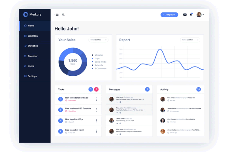 15 Free Photoshop Amp Sketch Admin Dashboard Ui Templates