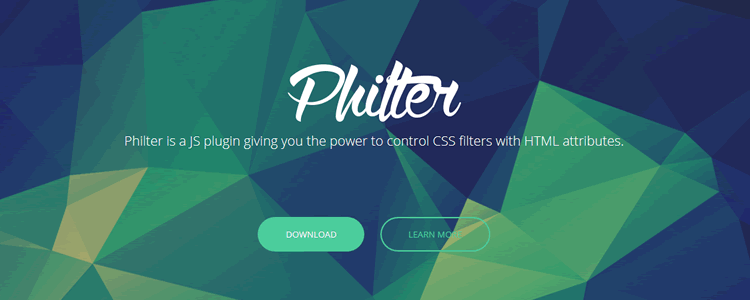 Philter jquery CSS image filter toolbox