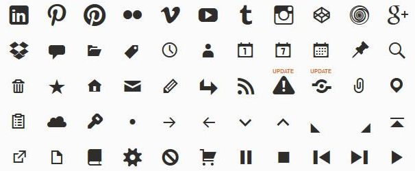genericons web icon font symbols glyphs free
